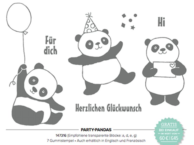 Party-Pandas Katalogbild